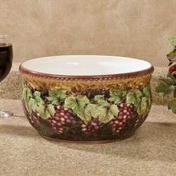 Gilded Wine Deep Serving Bowl Multi Earth