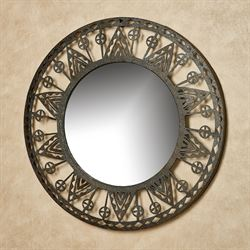 Dalton Round Wall Mirror Brown