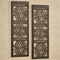 Montezuma Wall Art Panels Brown Pair