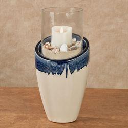 Agoura Hills Hurricane Candleholder Blue
