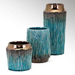 Brayton Table Vases Turquoise Set of Three