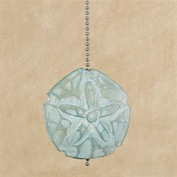 Sand Dollar Ceiling Fan Pull Aqua