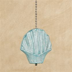 Scallop Shell Ceiling Fan Pull Aqua