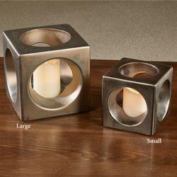Cube Candleholder Accent Bronze