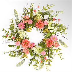 Ellie Floral Wreath Multi Warm