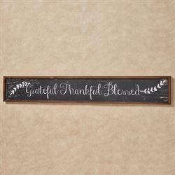 Grateful Thankful Blessed Framed Wall Sign Multi Earth