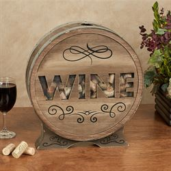 Barrel Top Wine Cork Holder Multi Earth