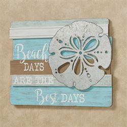 Beach Days Wall Plaque Sign Multi Cool