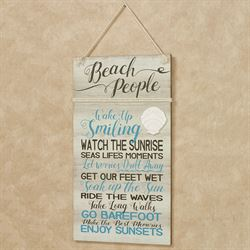 Beach People Coastal Wall Plaque Sign Multi Cool