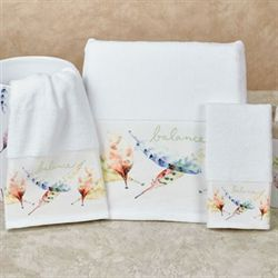 Daydream Bath Towel Set White Bath Hand Fingertip