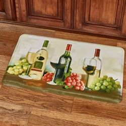 Wine Trio Comfort Mat Light Cream 30 x 18
