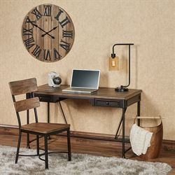 Miles Desk Set Bronze Set of Two
