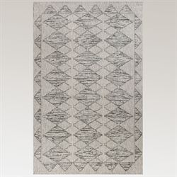 Zillah Boho Rectangle Rug Gray