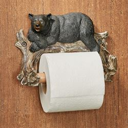 Lazy Bear Toilet Paper Holder Black