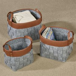 Liam Storage Baskets Gray Set of Three