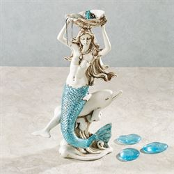 Adella Mermaid Figurine Jewelry Holder White