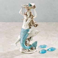 Adella Mermaid Figurine Jewelry Holder White