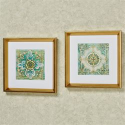 Cool Elegance Medallion Framed Print Wall Art Multi Cool Set of Two