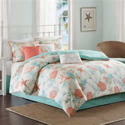 Pebble Beach Comforter Bed Set Multi Cool