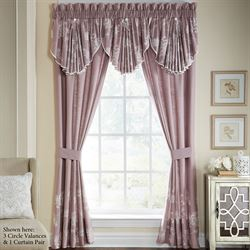 Liliana Tailored Curtain Pair Mauve 82 x 84