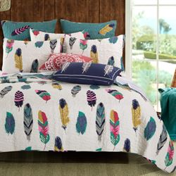 Dream Catcher Quilt Bed Set Off White