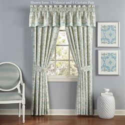 Astrid Wide Tailored Curtain Pair Pale Blue 100 x 84