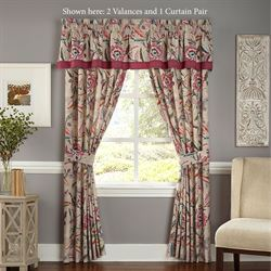 Key of Life Wide Tailored Curtain Pair Multi Bright 100 x 84