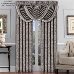 Chancellor Wide Tailored Curtain Pair Silver 100 x 84