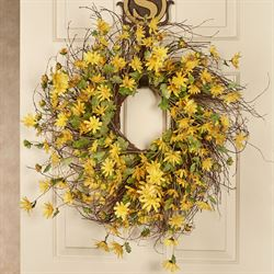 Sunshine Daisy Floral Wreath Yellow