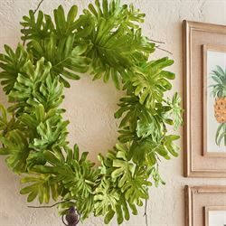 Tropical Leaf Wreath Green