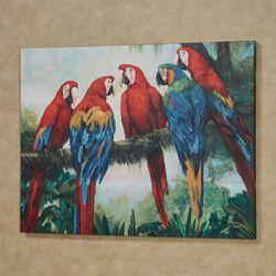 Tree Talk Macaw Parrot Canvas Wall Art Multi Bright