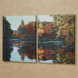 Autumn Palette I Canvas Wall Art Multi Warm