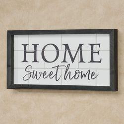 Home Sweet Home Framed Wall Art Weathered Black