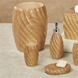 Wood Works Lotion Soap Dispenser Natural