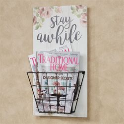 Stay Awhile Wall Organizer Weathered Ivory