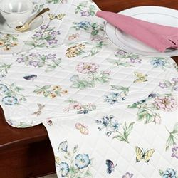 Butterfly Meadow Quilted Placemats  Set of Four