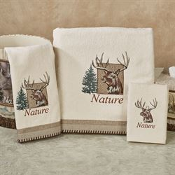 Nature Walk Bath Towel Set Multi Warm Bath Hand Fingertip