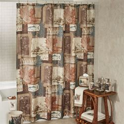 Nature Walk Shower Curtain Multi Warm 72 x 72