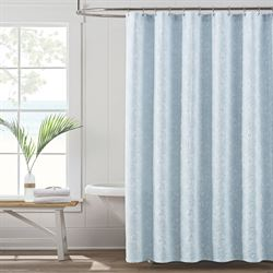 Sanibel Isle Shower Curtain Pastel Blue 72 x 72
