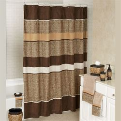 Wild Life Shower Curtain Multi Warm 70 x 72