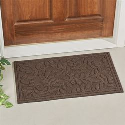 Monaco Leaves Doormat Chestnut 30 x 18