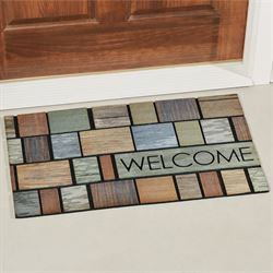 Box Driftwood Welcome Doormat Multi Warm 30 x 18