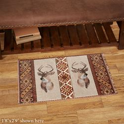 Double Deer Accent Rug Honey 18 x 29