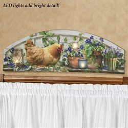 Rooster LED Arched Canvas Wall Art Multi Cool