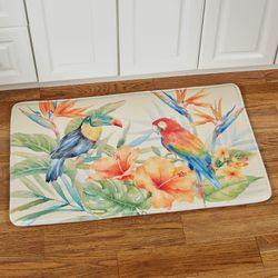 Bird of Paradise Cushioned Rectangle Mat Multi Bright 35 x 22