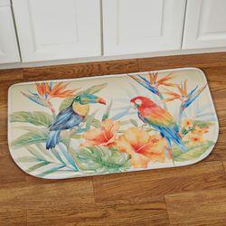 Bird of Paradise Cushioned Slice Mat Multi Bright 30 x 18
