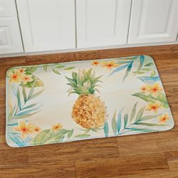Tropical Pineapple Cushioned Rectangle Mat Multi Bright 35 x 22