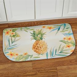 Tropical Pineapple Cushioned Slice Mat Multi Bright 30 x 18