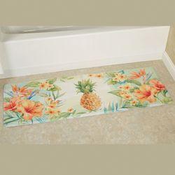 Tropical Pineapple Cushioned Runner Mat Multi Bright 55 x 20