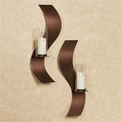 Rhythmic Wall Sconces Antique Copper Set of Two